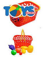 Игрушечная корзина с фруктами, 8 предметов, 04-453