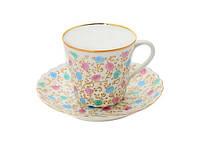 Набор чашка кофейная с блюдцем И.Ф.З. Витая Хризантема с ободком 14121