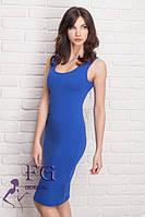 Повседневное летнее платье облегающего силуэта цвета элекрик