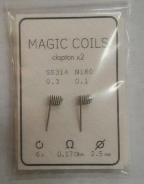 Готовые спирали - MAGIC COILS Fused Clapton   22