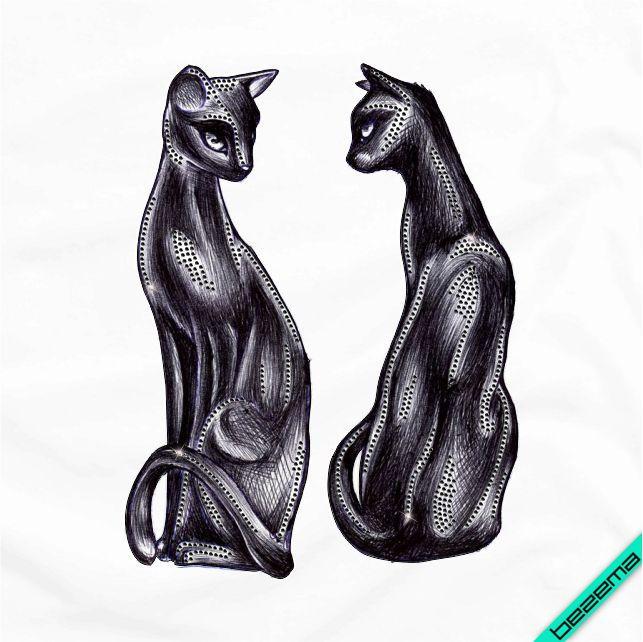 Термопринт на дорожные сумки Коты