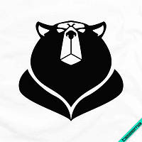 Наклейка на ткань Медведь [7 размеров в ассортименте] (Тип материала Матовый)