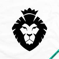 Наклейка на ткань Лев [7 размеров в ассортименте] (Тип материала Матовый)