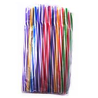 Трубочка Фрэш с гофрой винт цветная d8 230мм (100шт/уп)