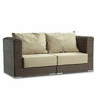 Комплект мебели двухместный Kombo плетеный из искусственного ротанга, коричневый, для сада 160x80x80 см
