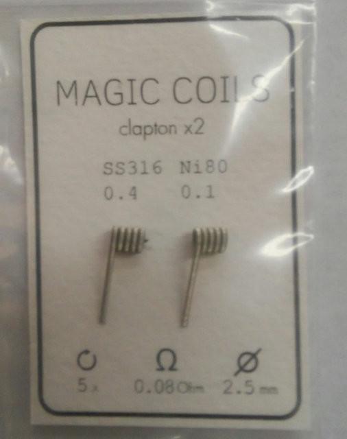 Готовые спирали - MAGIC COILS Fused Clapton   25