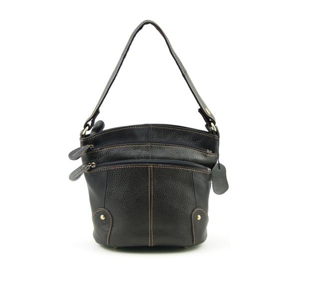 Женская кожаная сумочка через плечо | коричневая