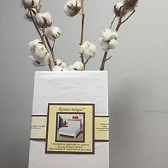 Трикотажная простынь на резинке 90х200 белая