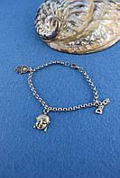 Браслет мужской металл серебро, фото 1