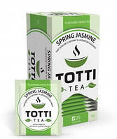 """Чай зеленый TOTTI """"ВЕСЕННИЙ ЖАСМИН"""" пакетированный в конвертах 25 х 2 гр."""