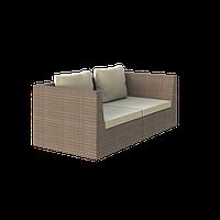 Диван плетеный двухместный из искусственного ротанга Лагуна 180x90x68 см ( Lagoon - 07)
