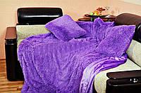 Покрывало пушистое 220х240 Koloco фиолетовый
