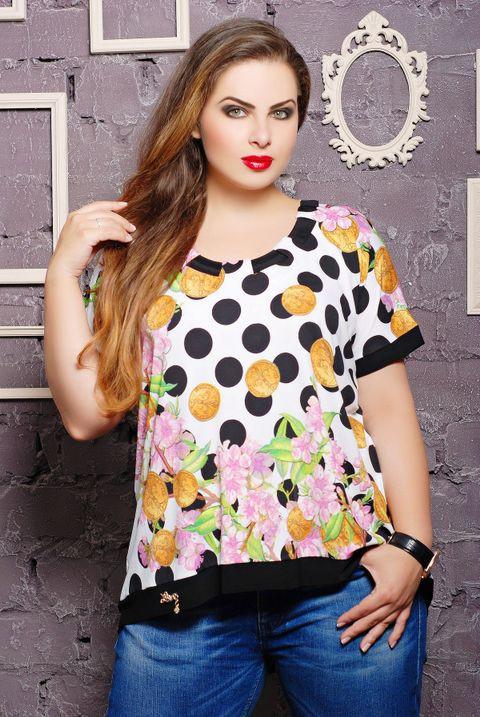 dbb1f57d7f07 Трикотажная женская блуза Катрин ТМ Таtiana 52-62 размеры - купить ...