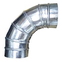 Колено (отвод) D100/90° из оцинкованной стали