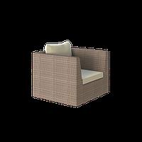 Кресло lagoon из ротанга искусственного коричневое плетеное