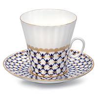 Набор чашка кофейная с блюдцем И.Ф.З. Одуванчик Кобальтовая сетка 14570