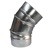 Колено (отвод) D100/45° из оцинкованной стали