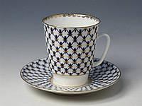 Набор чашка кофейная с блюдцем И.Ф.З. Майская Кобальтовая сетка 14574