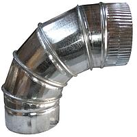 Колено (отвод) D110/90° из оцинкованной стали