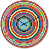 Часы настенные из стекла - Радуга (немецкий механизм)