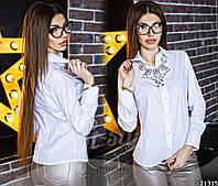Женская рубашка однотонная на пуговицах