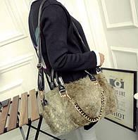Большая супер стильная женская меховая сумка. Экстравагантный дизайн. Хорошее качество. Доступно. Код: КГ935