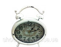 Красивые настольные часы в стиле Прованс в форме будильника