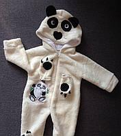 Человечек Панда для новорожденного человечек для мальчика Малыша девочки Молочный цвет