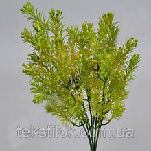 Ветка Трава Амиго светло салатовая 33см зелень искусственная