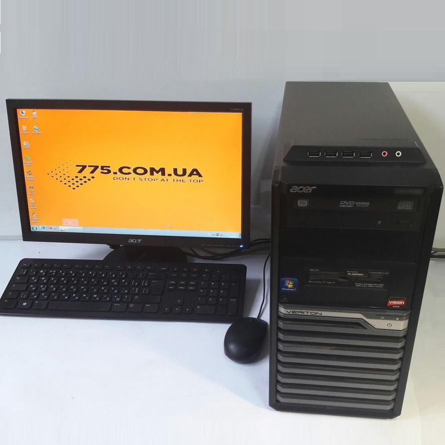 """Игровой комплект: 2 ядра, 4GB DDR3, GTX 650 1GB DDR5 + Монитор 19"""" (1440х900) + Клава  и мышь"""