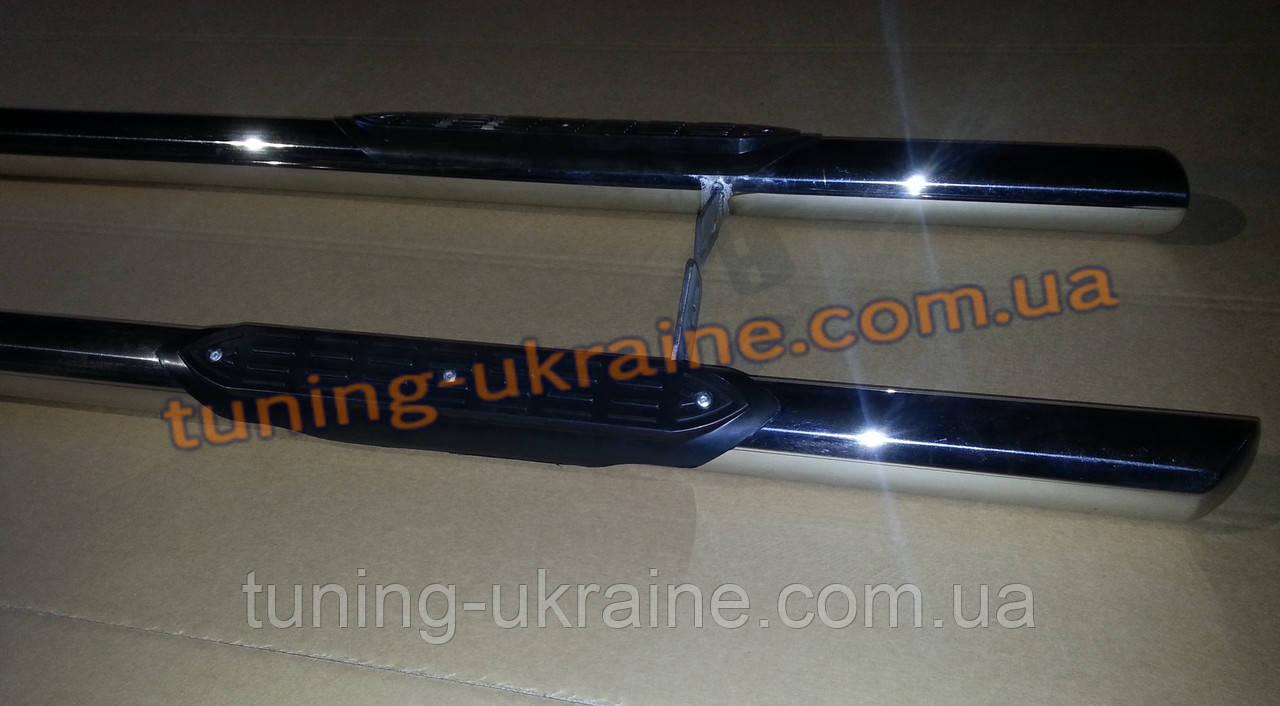 Боковые пороги трубы с проступью из нержавейки на Nissan Juke 2010-2014 - ООО Tuning Avto в Харькове