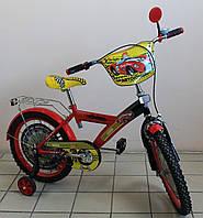 Детский двухколёсный велосипед Автогонщик для мальчика красный