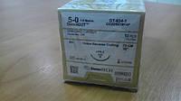 Кетгут хромированный DemeGUT, нить 5/0, игла 19 мм, 3/8 окр, обратно-режущая, нить 75 см бежевая,
