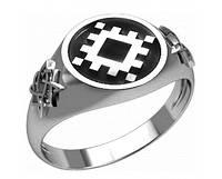 Кольцо серебряное Репейник Счастья и Квадрат Сварога 30325