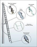 Лестница приставная наклонная стеклопластиковая изолирующая двухколенная ЛПНС-2К-7