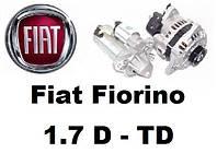 Fiat Fiorino 1.7 D - TD. Стартер, генератор  и их запчасти на Фиат Фиорино.
