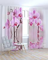 Фото шторы Орхидеи на воде