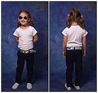 Брюки льняные для девочки, 116 - 152 см. Детские, подростковые тонкие летние штаны. Брюки лето, лён.