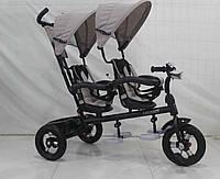 Трехколесный велосипед для двойни Azimut Crosser TWINS AIR М-300