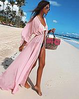 Женская стильная  пляжная накидка в пол,в расцветках