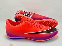 Футбольные сороконожки Nike Mercurial Victory CR7 TF Hyper Punch/Black/Pink