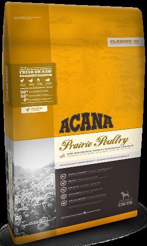 Acana Prairie Poultry 17кг  - корм для взрослых собак- корм для собак с цыплёнком и индейкой