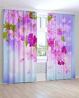 Фото шторы 3D Весенние цветы