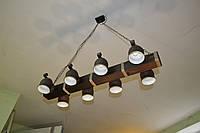 Люстра подвес на 8 керамических плафонов