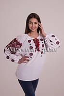 Вышиванка женская.Ткань домотканное полотно или лен МВ-58