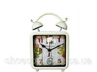 Красивые настольные часы в стиле Прованс квадратные
