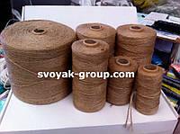 Шпагат джутовый на бумажной шпуле 400 гр/300 м. диаметр нити -1 мм.