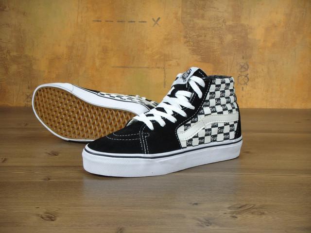Vans SK8 Old Skool Black White x Supreme