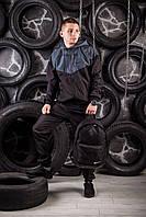 Виндранер, ветровка, куртка весенняя, осенняя, черный+серый