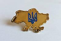 Значок карта Украины с гербом